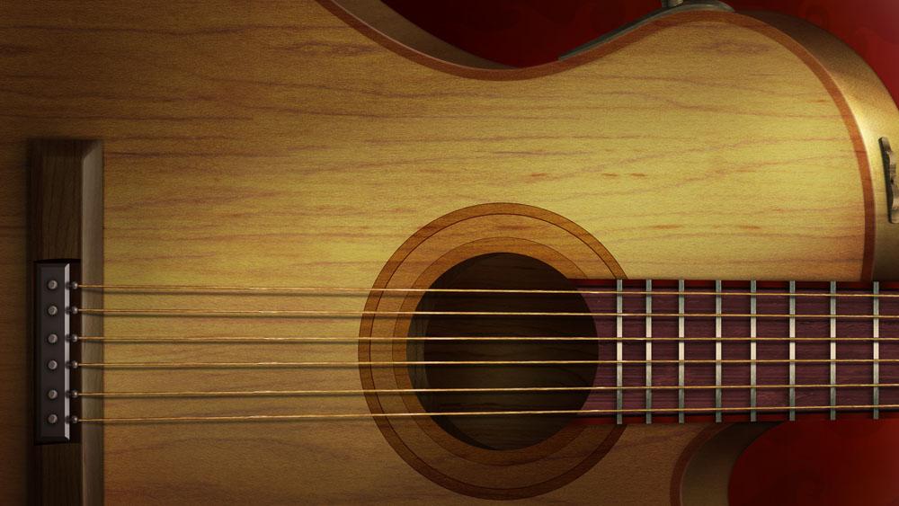 吉他工作牌背景素材